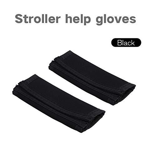 1 par de manijas de la cubierta de la barra universal para cochecito de bebé cochecito cochecito cochecito agarre protector, negro