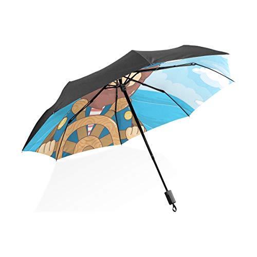 FANTAZIO Travel Paraplu glimlachende zeeman zon/regen paraplu
