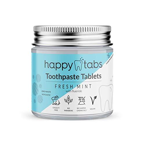 Happy Tabs - Zahnpastatabletten - Innovative Zahnpasta - Fresh Mint - ca. 80 Kautabletten