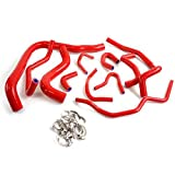 Silicone Radiator Coolant Hose Kit Clamps For HONDA ACCORD CB7 F22A F20A 1990 1991 1992 1993 Red