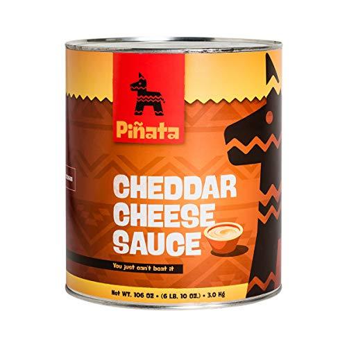 Pinata Cheddar Cheese Sauce | 3000gr | Tex-Mex-Küche | mild | aus Cheddar-Käse | Sauce nach Amerikanischer Art | für warme und kalte Getränke geeignet | Hervorragender Geschmack