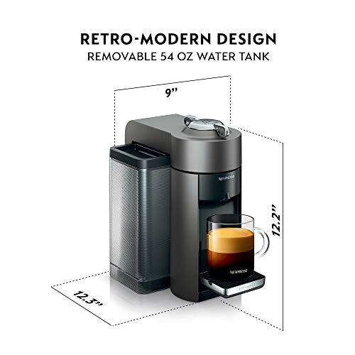 Nespresso Vertuo Evoluo Coffee and Espresso Machine, Titan