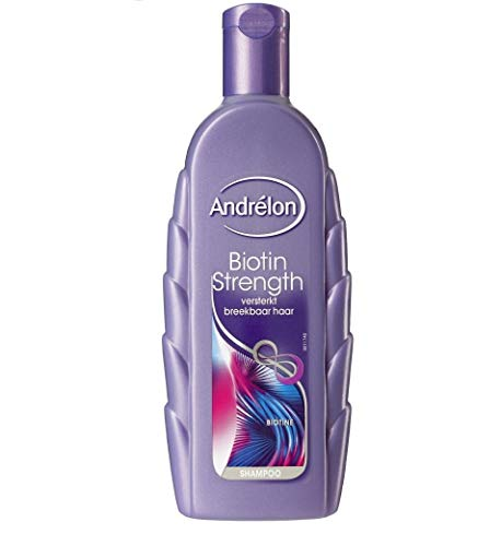 6er Pack - Andrelon Shampoo - Biotinstärke (Biotin Strength) - für empfindliches Haar - 300 ml