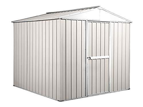 Notek Box in Acciaio Zincato Casetta da Giardino in Lamiera 2.75 x 1.75 m x h2.12 m - 87 kg – 4,81 Metri Quadri – Bianco