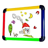 VIZ-PRO Children Board/Writing Whiteboard/Dry Erase Board,Colourful Plastic Frame -12 X 8 Inches…