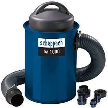 Scheppach Absauganlage HA1000 (1100 Watt, Luftleistung: 183m³/h, Füllmenge: 50 L, Schlauch- Ø/-länge: 100/2000mm, Filterfläche: 0,3m², inkl. Adapterset zum Anschluss an Kleingeräte)