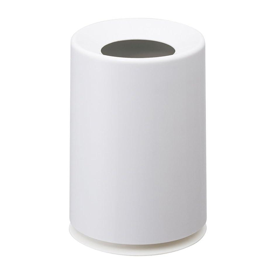 部誤って驚かすイデアコ ゴミ箱 ミニ チューブラー ホワイト 1.2L