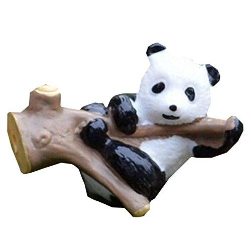 Lot de 4 Creative Lovely Mini Panda Figurines pour plante en pot 3 cm