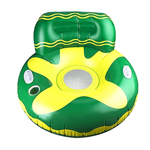 Aoten Inflatable Pool Float Raft with Cup Holder and Handles Multi-Purpose Portable Long Lasting Convenient for Adults Kids