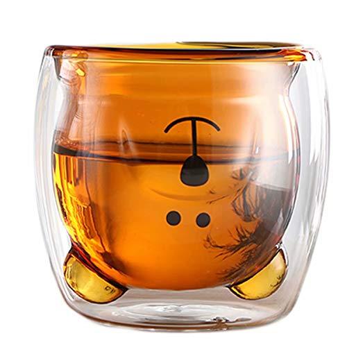 Niedliche Kaffeetassen mit Bären-Motiv, Teetasse, Paar Milchtassen, Glasbecher, lustig, Valentinstag, kreativ, romantisch, Geburtstagsgeschenk für Sie