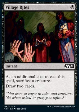 Magic: the Gathering MTG - Village Rites - Core 2021 M21 126 Foil English