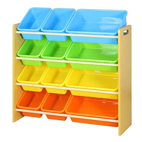 no brand Toy Support de Rangement Baby Toy Voiture Support de Rangement Grande capacité en Plastique Multi-Couches Boîte de Finition Enfants Toy Box Support Finition pour Enfants