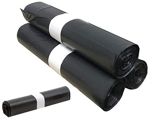 100 Sacs Poubelle Grande Capacité 50L - Lien coulissants, Ultra Résistant, Anti-Fuites, Noir Opaque - 4 Rouleaux de 25 sacs