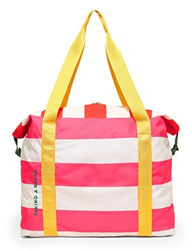 Pink Striped Weekend Bag