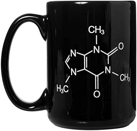 Caffeine Molecule Chemistry Science Mug Funny Mug for any Caffeine Lover 15oz Deluxe Double product image