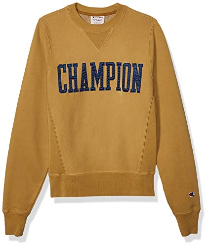 Champion LIFE Men's Vintage WASH Reverse Weave Crew W/V-Notch, Imperial Gold, X Large