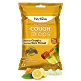 Herbion Naturals Cough Drops, Assorted, Honey Lemon, 25 Count (Pack of 1)