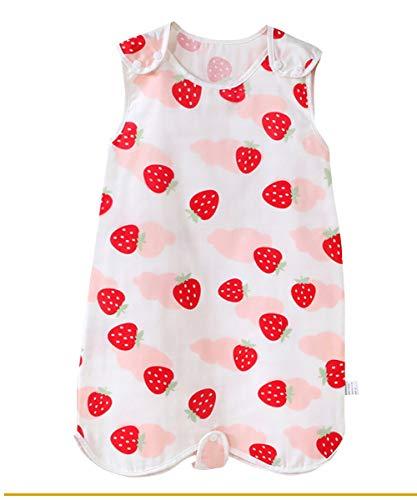 Happy Cherry Gigoteuse Sac de couchage Fille Ete Naissance sans Manche Turbulette Coton Nids D'ange Cadeau Baptême