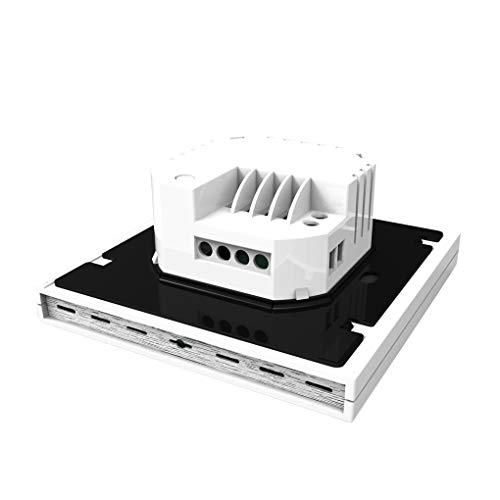 Weilifang WiFi Calentamiento de Agua Termostato de calefacción del termostato la Temperatura del LCD Controlador de Pantalla LCD con luz de Fondo, Blanca