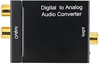Ocamo Digital Optical Coax to Analogue RCA L/R Audio Converter Adapter with Fiber/USB Cable Mainframe