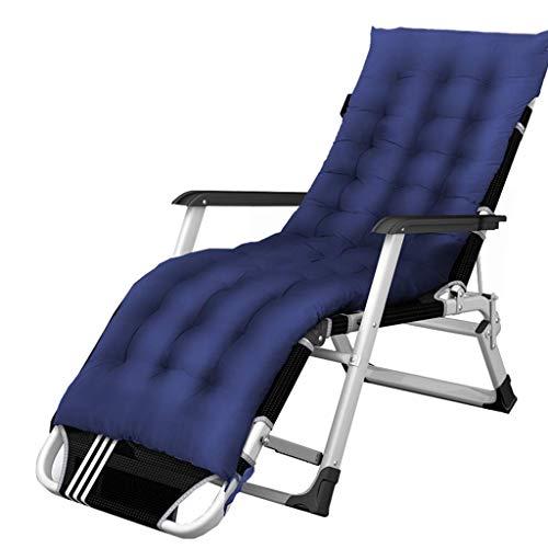Yuany Sun Loungers Blue Klappbare Zero Gravity Recliner Patio Liegestühle mit gepolstertem Kissen |Liegestühle, die hochbelastbar sind |Liegestühle im Freien Lounge Chair für Erwachsene Yard Poo