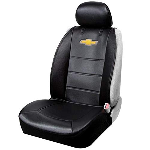 Plasticolor 008599R01 Chevy Chevrolet Logo Universal Fit Car Truck or SUV Sideless 3-Piece Seat Cover w/Head Rest
