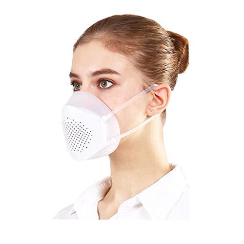 Staubmaske, Wiederverwendbare Atemschutzmaske FFP3, 3D-Gesichtsmaske, Pollenschutzmaske, PM 2.5-Antibeschlagmaske, Filtermundmaske mit Gummibändern, DIY-Gesichtsmaske beim Radfahren im Freien