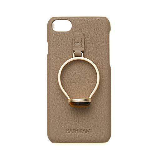 [Hashibami(ハシバミ)]天然石リング アイフォンケース iPhone SE(第2世代) 8 7 6 6S対応 ha-1911-623 タイガーアイ×グレー