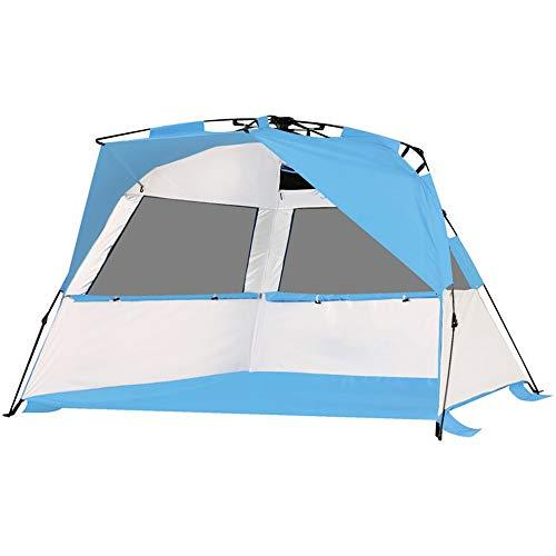 RongDuosi Blue Beach Tent Outdoor Automatische Tent Snelheid Open Schaduw Zon 2-3 Mensen Vissen Waterdichte Zonnebrandcrème Picknick Tent Outdoor Uitrusting Zwembed