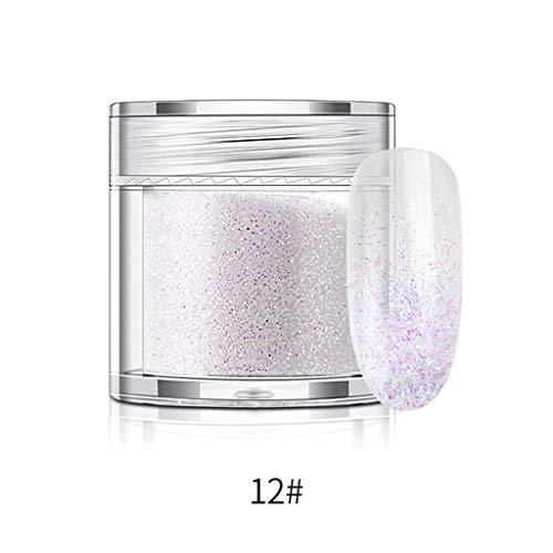 Ongles Decoration, YUYOUG Poudre de Maquillage Dermacole, 10g de Paillettes Holographique irisé Art de Verre à vin Artisanat de Décoration (L)