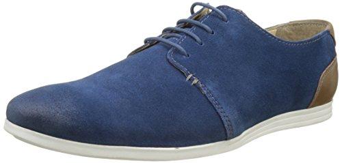 Hush Puppies Doug, Zapatos de Cordones Derby para Hombre, Azul (Bleu Petrol Perm 53), 42 EU