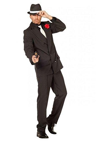 shoperama Herren-Kostüm Gangster inklusive Hut Mafioso Mafiosi Mafiaboss Erwachsene Verbrecher, Größe:54