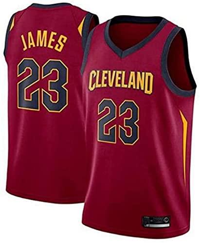 Jerseys De La NBA De Los Hombres - Cleveland Cavaliers # 23 JA-Mes Fan De Baloncesto Uniforme - Chaleco Bordado De Malla Transpirable,Rojo,XL