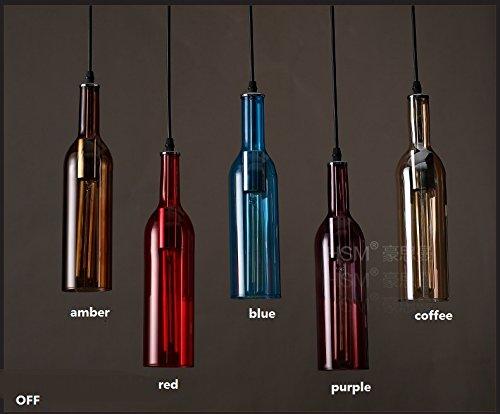 WINZSC Personalisierte LED Flaschen Pendelleuchten Restaurants Bars Bekleidungsgeschäfte farbige Bierflaschen Pendelleuchten ZA GY270 lo9 (Size : 1 Head Coffee)