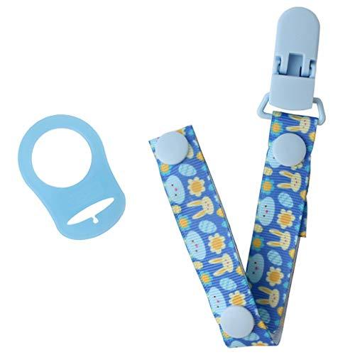 Chou-Baby Schnullerkette mit Halter-Klipp-Adapter für MAM Ringe Beruhigungssauger Leine Strap