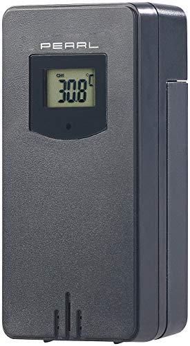 PEARL Zubehör zu Thermometer Außensensor: Funk-Außensensor für Wetterstation FWS-70, 60 m Reichweite, IP44 (Wetter-Stationen)