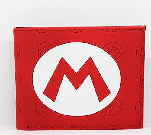 Super Mario Monedero para hombre y mujer Mario Super Mario Galaxy Super Mario Adolescente Estudiante Silicona Anime Wallet