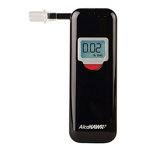 AlcoHAWK Elite Slim Breathalyzer, Semi-Conductor Sensor Breath Alcohol Tester Portable Personal use Alcohol Detector, Accurate and Fast Results, BAC Tracker Digital LCD Screen Includes 3 Mouthpieces