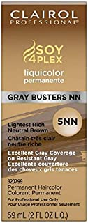 Clairol Professional Permanente Liquicolor, Lightest Rich Neutral Brown [5NN] 2 oz (Pack of 6)