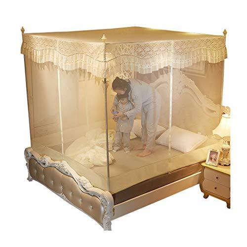 Tente, grande: for lit jumeau, lit king-size, trous les plus fins, auvent, moustiquaire, design pliant avec fond, 3 entrées, facile à installer, sac de rangement, sans produits chimiques