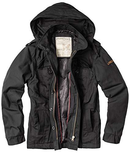 Surplus Raw Vintage Airborne Jacke, schwarz, M