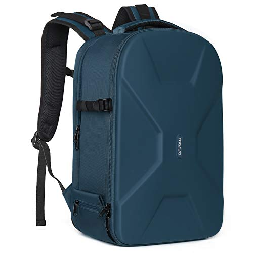 MOSISO Camera Backpack, DSLR/SLR/Mirrorless Photography Camera Bag 15-16 Inch Waterproof Hardshell Case with Tripod Holder&Laptop Compartment Compatible with Canon/Nikon/Sony/DJI Mavic Drone,Deep Teal