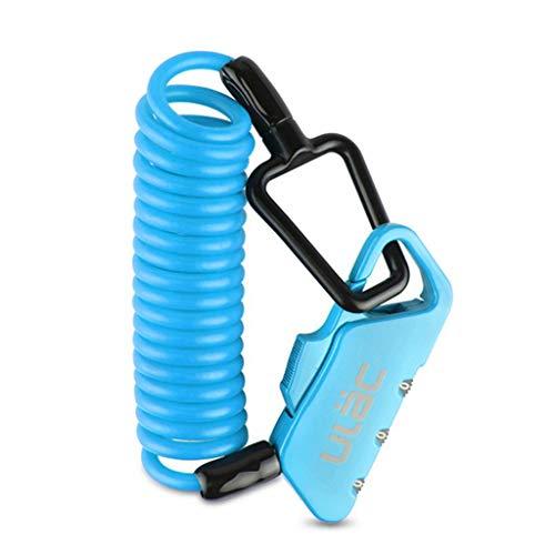 YZX Candado Cable Bicicleta, candado de combinación de Bicicleta reiniciable con contraseña de Seguridad antirrobo de 3 dígitos, para Bicicletas/Motocicletas/Scooters/Exteriores(Azul)