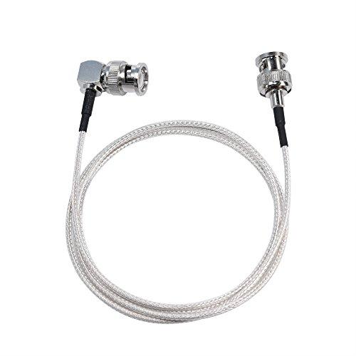 MOKOSE 3.3Ft(1M) 3G HD-SDI Cables 90 Degree Right Angle 75 Ohm SDI BNC Male Silver-Plated Coax Cable, BNC to BNC