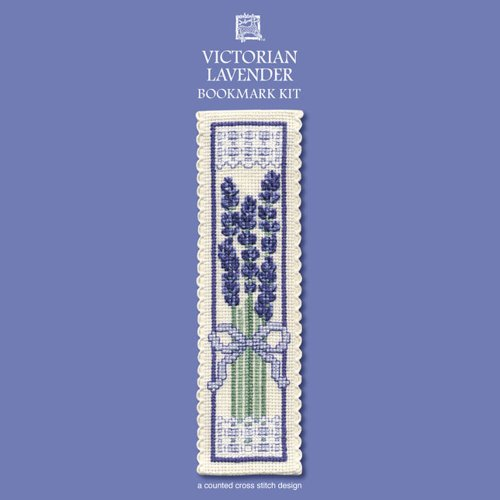 Textile Heritage Victorian Lavender Counted Cross Stitch Bookmark Kit