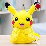 DONGER Sac d'école Creative Pikachu Sac à Dos pour Enfants en Daim Pépinière Cartoon Bébé Cadeau d'anniversaire Sac à Dos Pikachu