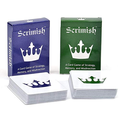 Nexci Scrimish Card Game - 2 Pack Strategy Games for Up to 4 Players Including Adults, Teens, Kids and Families That is Easy to Learn and Fun to Play
