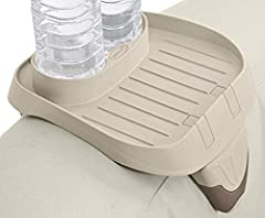 """The PureSpa cup holder and refreshment tray is designed to securely attach to the spa wall Keeps beverages and snacks close by while you relax Removable for convenience Holds 2 standard size beverage containers Dimensions: 10-1/4"""" L x 8-5/8"""" W x 7"""" H"""