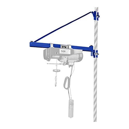 MSW Motor Technics Schwenkarm Wandhalterung für Selwinde Seilzug PROFRAME 1000 (1.000 kg Tragkraft, 750 mm Ausleger, für 40-50 mm Stangen geeignet, inkl. Montagezubehör)