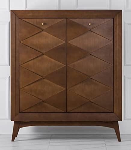 Casa Padrino Cajonera de Lujo neoclásica Madera Colores marrón 120 x H143 cm - aparador Muebles Art Deco